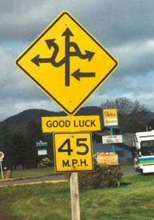 Good luck funny sign