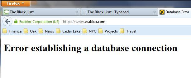 Exablox DB error