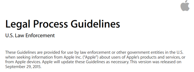 Apple legal process