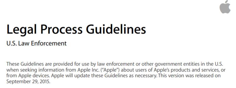 Apple legal process