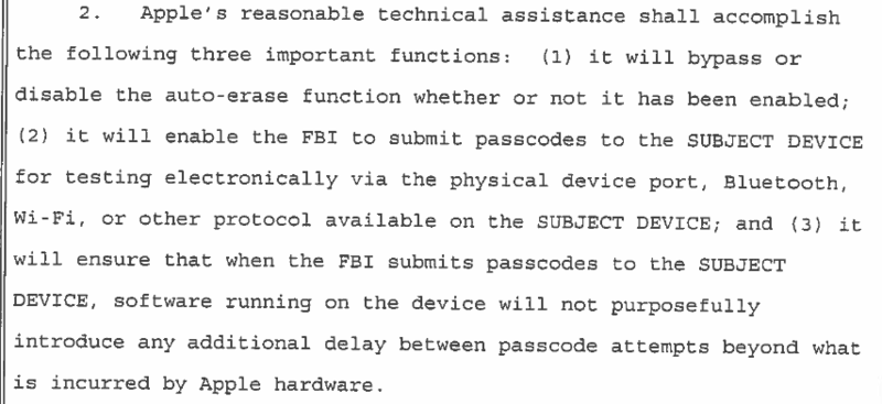 Feds request 1