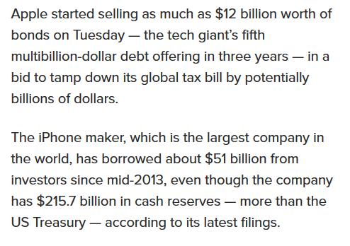 Apple cash reserves