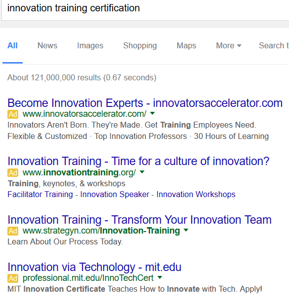 Google innovation training