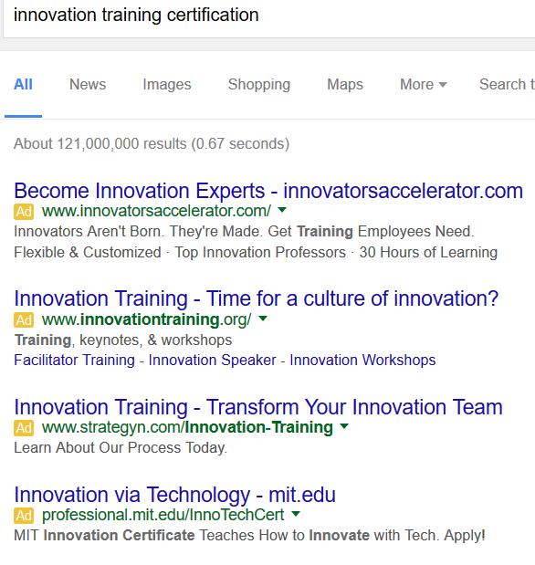 Google innovation training