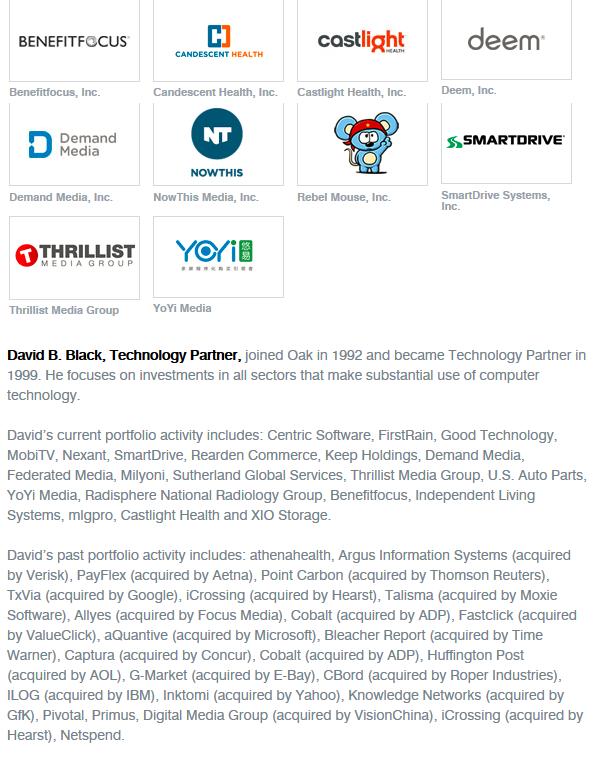 2015 12 17 David B. Black - Oak Investment Partners