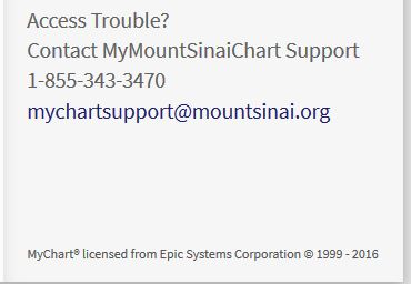 Mychart Epic Mt Sinai