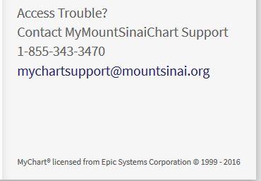 Mychart Epic Mt Sinai