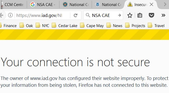 IAD not secure