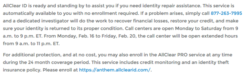 Anthem protections