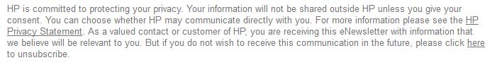 HP e-mail