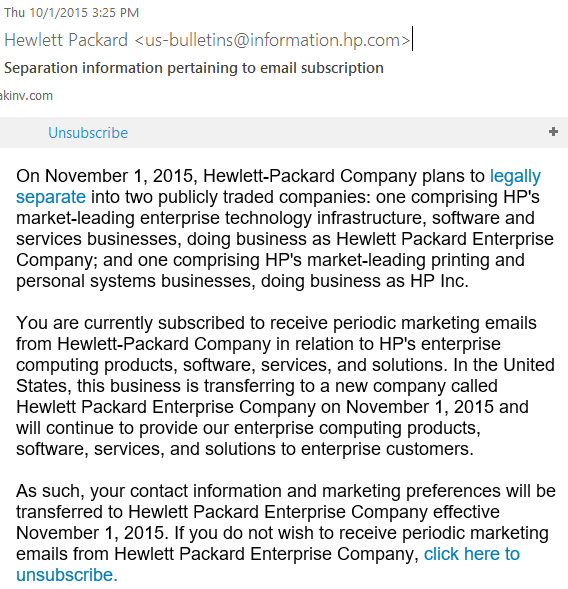 HP email