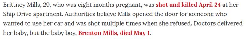 Mills killed