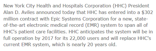 1 new EMR contract