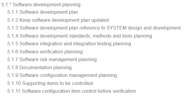 IEC 62304 requirements