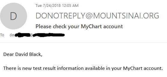 1 new result email