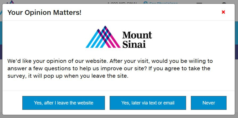 Mount Sinai opinion